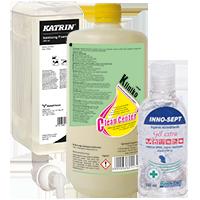 Fertőtlenítő szappanok, kézfertőtlenítők