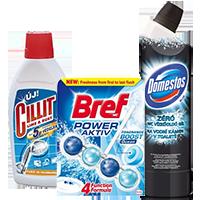 WC tisztítók, vízkőoldók, lefolyótisztítók