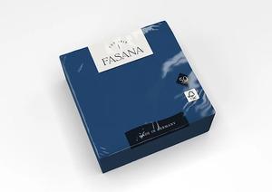 Fasana Lunch mini szalvéta, kék, 3 rétegű, 33x33 cm, 50 lap, 1/4 hajtott