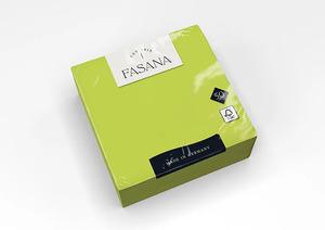 Fasana Lunch mini szalvéta, lime zöld, 3 rétegű, 33x33 cm, 50 lap, 1/4 hajtott