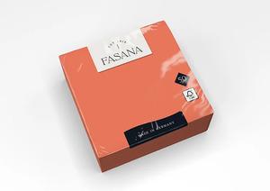 Fasana Lunch mini szalvéta, narancs, 3 rétegű, 33x33 cm, 50 lap, 1/4 hajtott