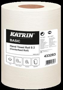 Katrin Basic Hand Towel S2/70 tekercses kéztörlő, 13,5cm/70m, 2 rétegű, natúr, 100% újrahasznosított, 12 tekercs/zsák