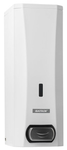 Katrin maxi szappanadagoló 1000ml patronokhoz, acél/fehér (Katrin Soap Dispenser - White Metal), 982517