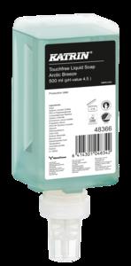 Katrin Touchfree folyékony szappan ''Artic Breeze Touchfree Liquid Soap'', érintésmentes szenzoros adagolóba, 500 ml, 12 db/karton, 48366