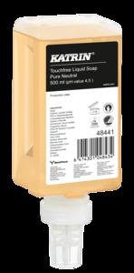 Katrin Touchfree folyékony szappan ''Pure Neutral Touchfree Liquid Soap'', érintésmentes szenzoros adagolóba, 500 ml, 12 db/karton, 48441