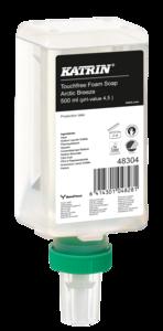 Katrin Touchfree habszappan ''Artic Breeze Touchfree Foam Soap'', érintésmentes szenzoros adagolóba, 500 ml, 12 db/karton, 48304