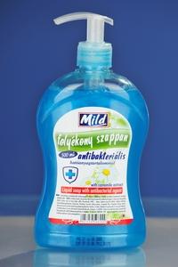 Mild antibakteriális folyékony szappan, 500 ml, pumpás flakonban